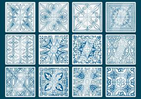 Blue Talavera Tile Vectors