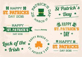 St Patrick Dag Vector Labels