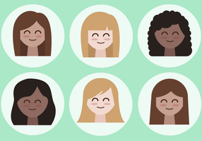 Free Female Avatars Vector