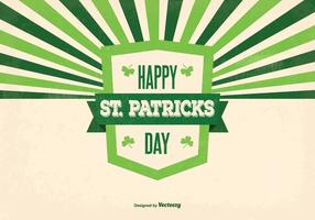 Retro St Patrick Tag Illustration