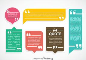 Colorful Qoutation Mark Speech Bubble Vector Sets