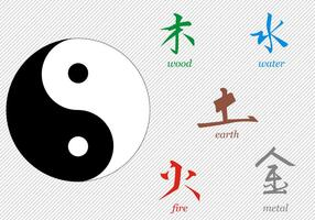 Gratis Tai Chi Signs Vector