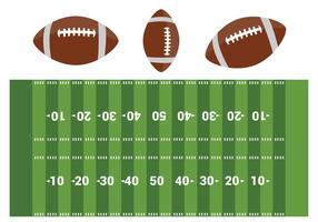 Fri American Football Field Vector