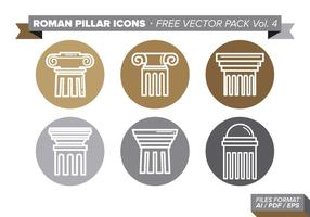 Roman Pillar Icons Free Vector Pack Vol. 4