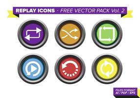 Replay Icons Free Vector Pack Vol. 2