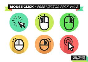 Muis Klik Gratis Vector Pack Vol. 2