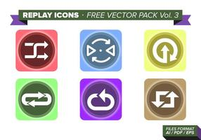 Replay icons free vector pack vol. 3