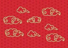 Vector de nuvem chinesa grátis