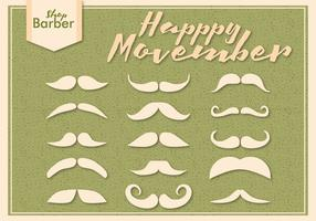 Movember Moustache Season Vectors