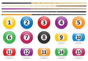 Pool Balls And Stick Vectors