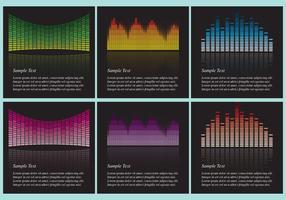 Vecteurs de fond des bars sonores