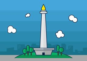 Download 64  Gambar Animasi Lucu Monas HD Gratis