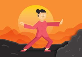 Vector Tai Chi Woman