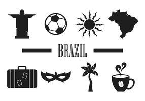 Brasil Minimalistische Vektor-Icons