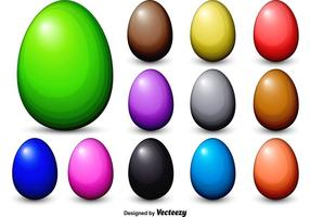 Dyed Vector Easter Eggs