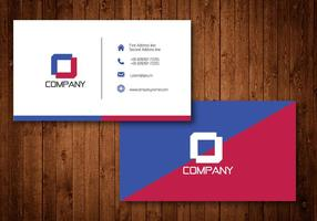 Diagonal Creative Business Card Template Vector