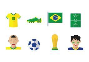 Vektor Brasil fotboll ikoner