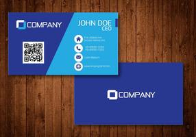 Blue creative visit card vector