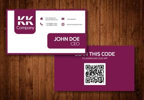 Dos caras de diseño de vectores de tarjetas de visita