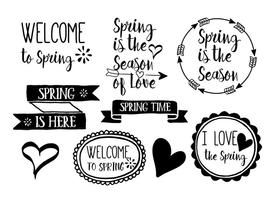Hand-drawn-spring-vector-labels