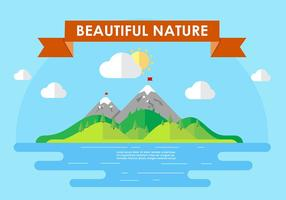 Mountain-landscape-vector