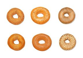 Pack de vectores de bagels
