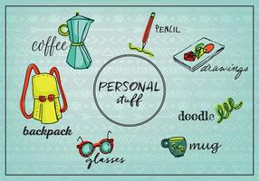Free Personal Stuff Objekte Hintergrund