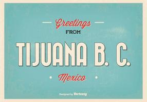 Retro stil Tijuana hälsning illustration