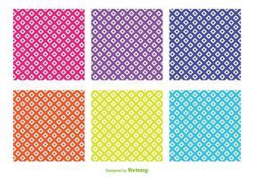 Surtido de colores patrones de forma de diamante vector