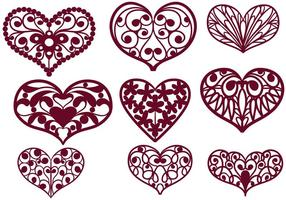 Free Cutout Hearts Vectors