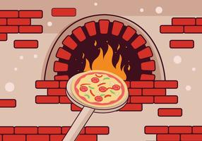 Pizza oven vector