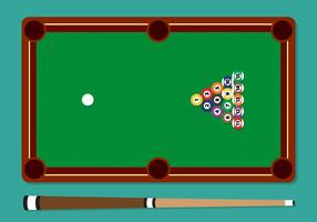 Pool Stick Balls Table Vector Illustration