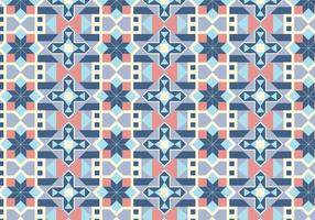 Geometric Tiled Pattern Background vector