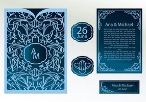 Laser Cut Invitation Vector
