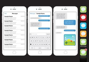 Vector Iphone com Imessages
