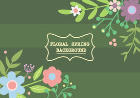 Vecteur de fond floral gratuit