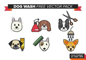 Dog Wash Gratis Vector Pack