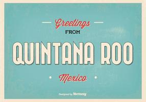 Quintana roo mexico greeting illustration