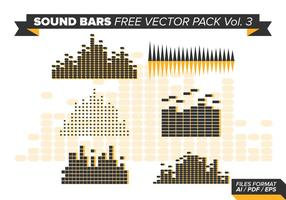 Sound Bars kostenlos Vektor Pack Vol. 3