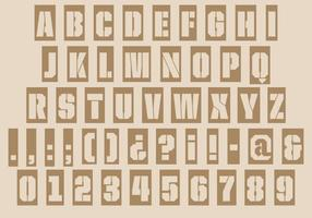 Stenciled Laser Cut Type Font Vector