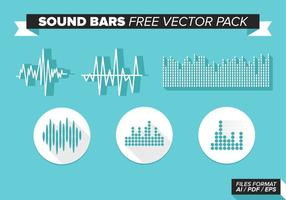 Pack de vecteur gratuit pour barres sonores