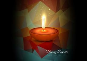 Glowing Diya For Diwali Festival vector