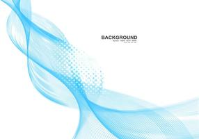 Blue Business Wave On White Background