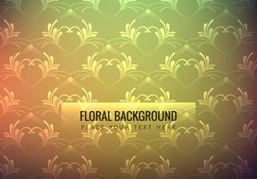 Colorful Floral Wallpaper vector