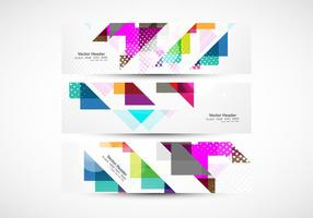 Colorful Triangular Header