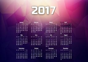 Year 2017 Calendar With Months And Dates vector