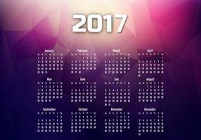 Calendario del año 2017 con meses y fechas