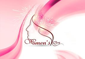Women's Day Card With Wave Design