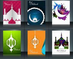 Set di brochure Eid Mubarak
