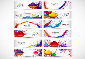 Designs Illustrating Happy Holi vector